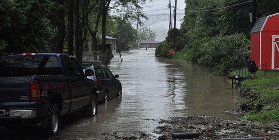 Flooding from Hurricane Irene in Highland, Ulster County, NY (2011).