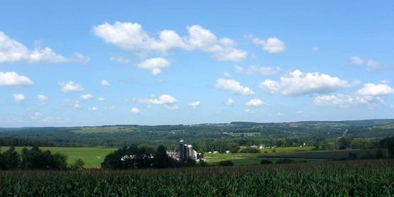 Dryden farmland