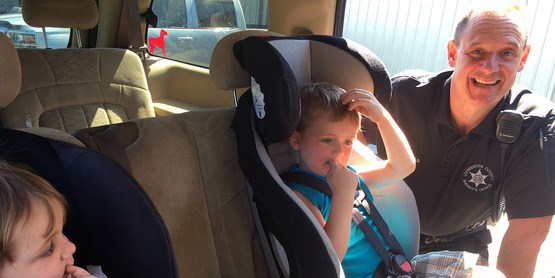 We offer monthly car seat checks throughout the county. Check our website for exact dates.