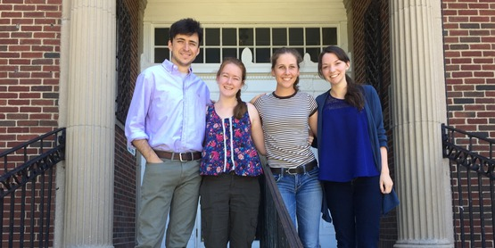 Our Farms; Our Stories Interns Dan Chamberlain, Sarah Nixon, Claira Seely and Michaela Barry