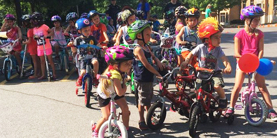 We offer bike rodeos at local Summer Rec programs to educate children on helmets and the rules of the road.