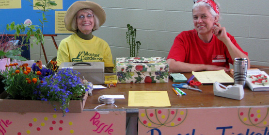 Master Gardener volunteers at the 2012 Spring Garden Fair & Plant Sale (CCE-Tompkins).