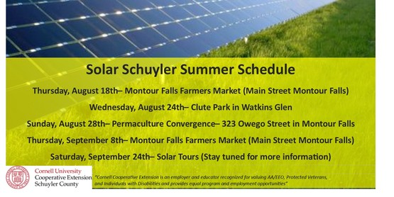 Solar Schuyler at the Montour Falls Farmers Market