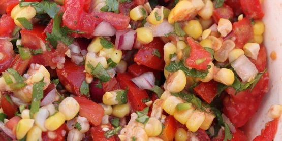 Corn, Tomato & Cucumber Salad