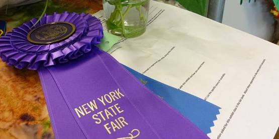 The Purple Rosette - What a beautiful award!