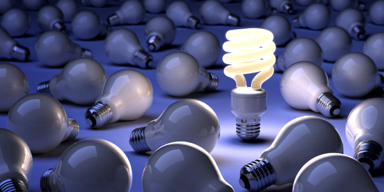 CFLs last ten times longer than incandescent bulbs.