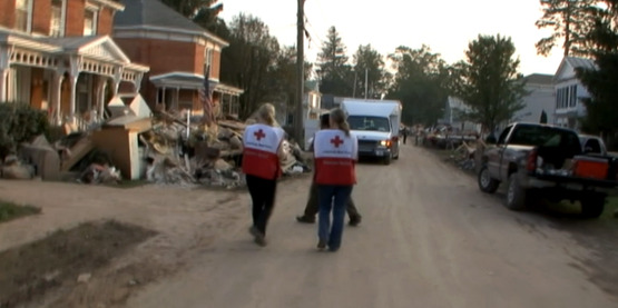 Emergency personnel in Schoharie County following Hurricane Irene (2011)