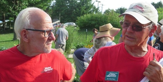 Pictured in the photo Master Gardeners Jim Cowan and Reg Boutwell