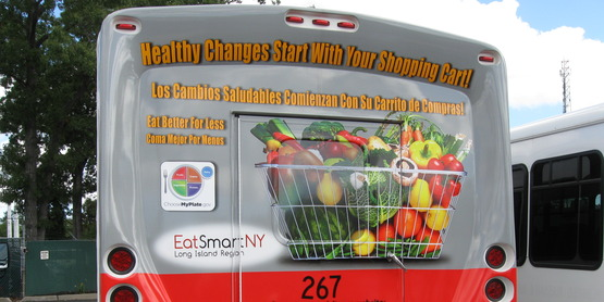 Healthy Changes Start with your shopping Cart bus display for Eat Smart New York