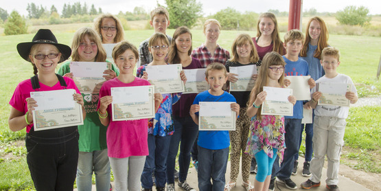 4-H Achievement Day award recipients
