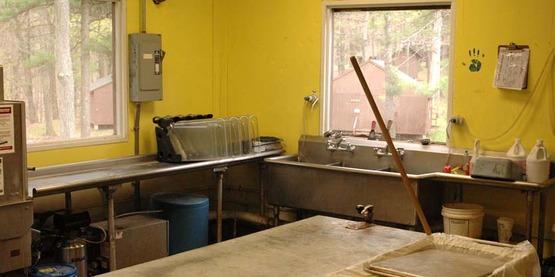 View 4: Dishwasher, potwashing sink