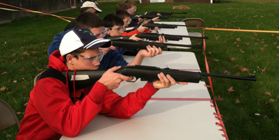 4-H Shooting Sports air rifle group