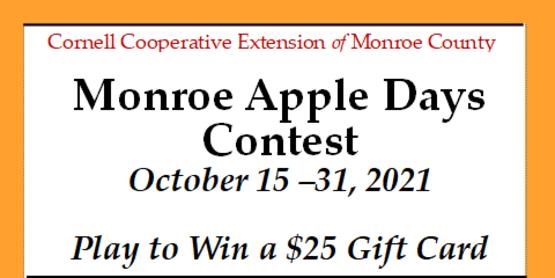 Monroe Apple Days Contest 2021