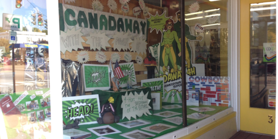 The Canadaway 4-H Club partnered with Fredonia Hardware to create a window display