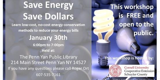Save Energy Save Dollars- Penn Yan Library