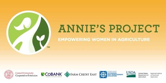 Logo banner for Annie's Project, listing sponsors
