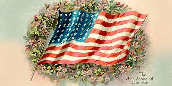Star Spangled Banner vintage postcard