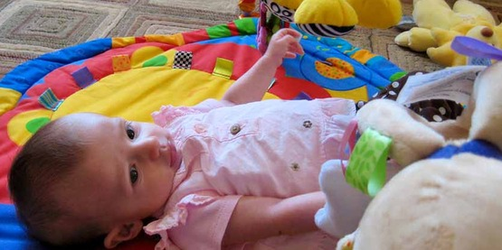 baby girl at day care