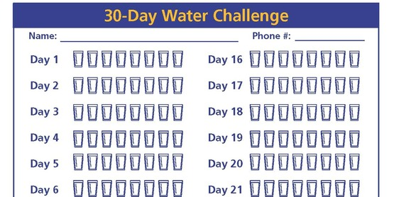 Take the 30 Day Water Challenge!