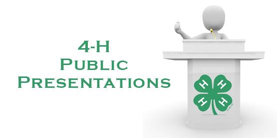 4H Public Presentations