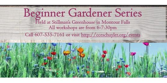 Beginner Gardener Series- Spring 2017