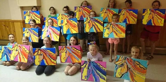 4-H Paint Night in Boonville