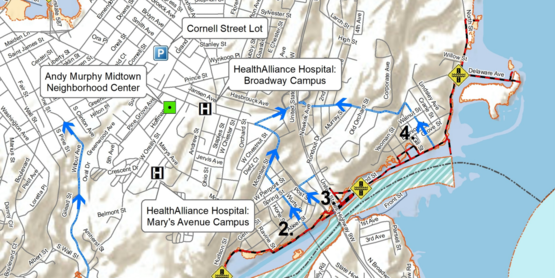 Kingston flood map