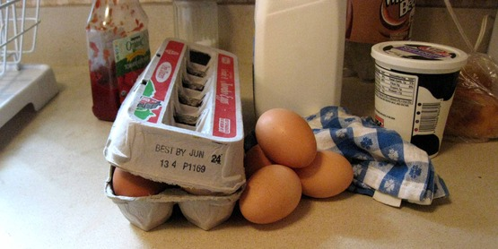 various food products with expiration dates