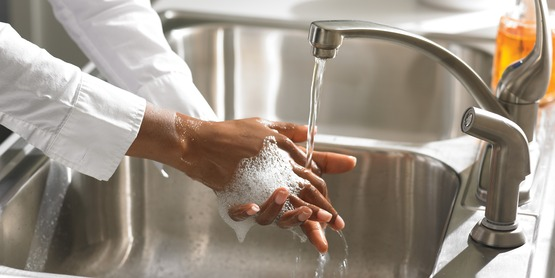 Wash hands and surfaces often when preparing food.