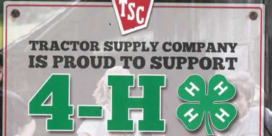 4-H Tractor Supply Company Paper Clover Fundraiser - HF store