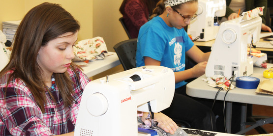 Sewing workshops also provide 4-Hers with educational opportunities!