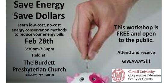 Save Energy, Save Dollars- Burdett