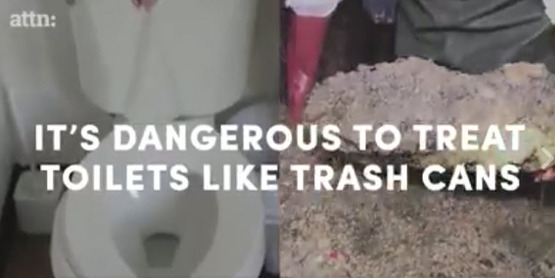 ATTN: Toilets aren't Trash Cans