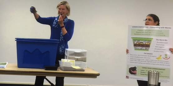 MG Linda L teaches vermicomposting