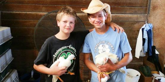 Hemlock Fair Poultry Show participants