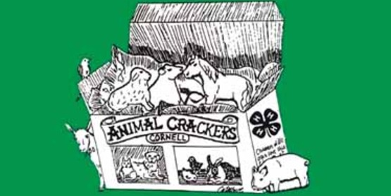 Logo for Animal Crackers 4-H program from the Cornell University 4-H Brochure (2013)