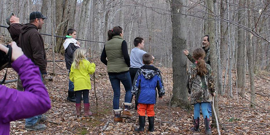 Maple Woods Walk participants
