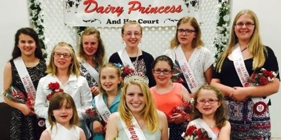 The 2016/17 Chautauqua County Dairy Princess, Joyce Wiltsie and her Dairy Ambassadors.
