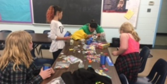 FCE RAPP Youth Group enjoying a recycling craft, 2017