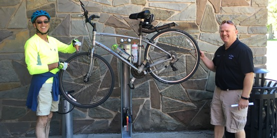 Teamwork between SOAR, Clyde SPAN, and Clyde Village brought this Dero Bike Fixit station to Clyde. Find it on Park St near the municipal building!