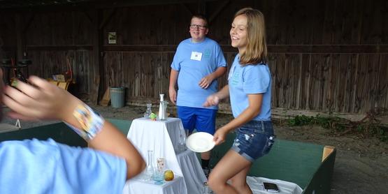 Warren County Youth Fair Dime Toss Game.
