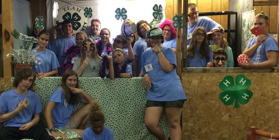 Warren County Youth Fair - Group 4H Members.