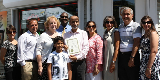 Grand opening of the first participating store in the healthy corner store program