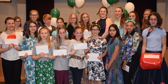 Outstanding sewers at the 2017 4-H Fashion Revue