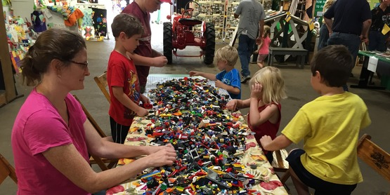 Master Builders Lego Club Free Build at the Fair