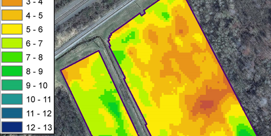 Yield Data of cooperating vineyard in Westfield, NY
