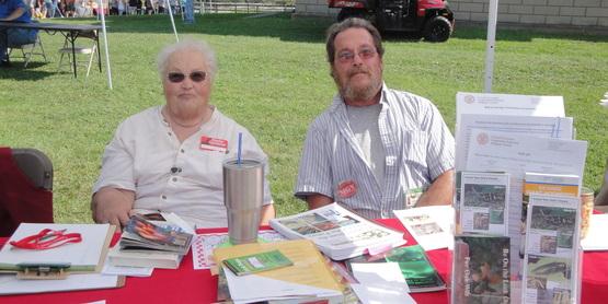 Allegany Master Gardener's Dave Chamberlain and Carol Starski at Cuba Garlic festival