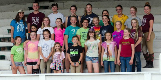 Horse Camp participants posing for a group shot!
