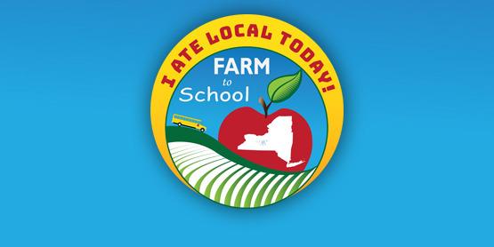 Farm to School I ate local sticker