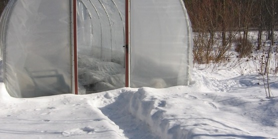 Hoop house for Winter Gardening tour